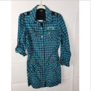 Coogi Checkered Button Down Dress Size Large